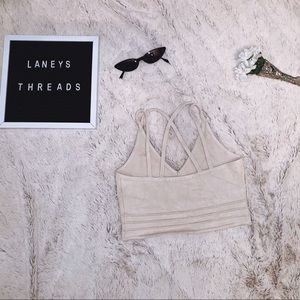 CROSS BACK CROP TOP